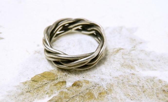 【情结】手工编织纯银戒指 编法与众不同