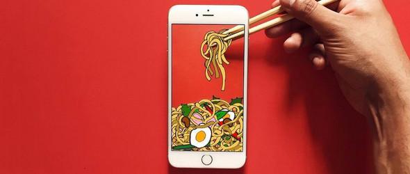以创意表现手机的无所不能 | @moography