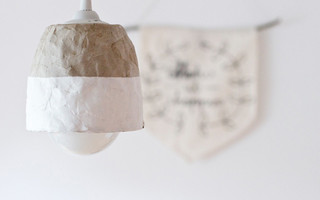 废物利用:废弃的卷纸纸芯(纸芯筒)制作时尚的吊灯灯罩diy教程
