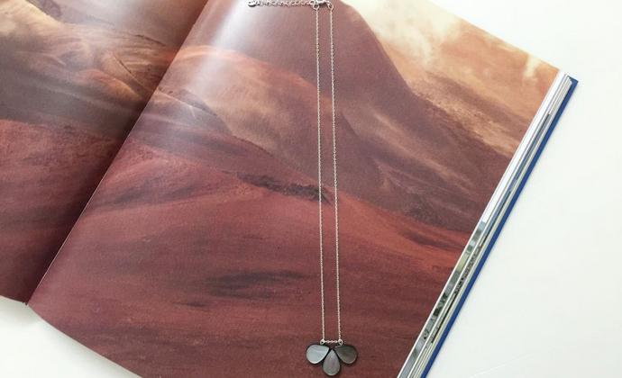 入口/ENTRANCE原创设计 天然黑蝶贝925银 个性百搭 手工锁骨链