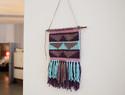 入门挂毯编织教程:编织几何图案的简易挂毯diy教程