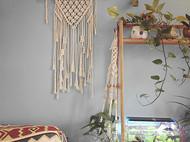 一个优雅的手工编织小挂毯,纯手工唯一一件,让你家的墙壁更特别