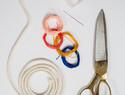 多彩粗绳项链DIY教程