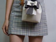 甜酷甜酷的蝴蝶结水桶包