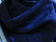 双宫真丝大方巾 午夜蓝