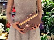 婚庆珠宝盒子口金包方形盒子斜跨晚宴包