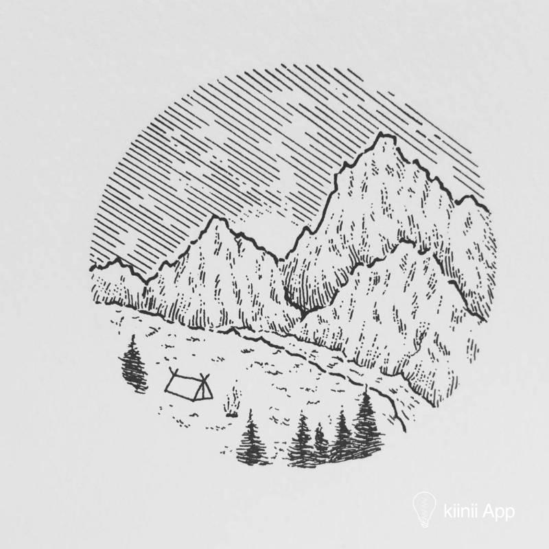 黑白风景画_简单的黑白线条,画尽万千美好风景:瑞士艺术家 Sarah Hernandez 的 ...