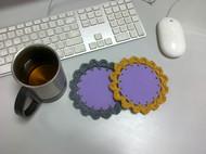 DIY自创钩花茶杯垫