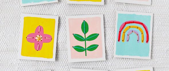 DIY手绘刺绣创意卡片