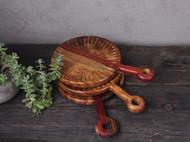 实木复古创意木碟子 果盘 纯手刻  整块实木刻制   淘宝店铺(左迹)
