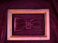 小可爱和小领带酒红色天鹅绒窄版领结支持定制