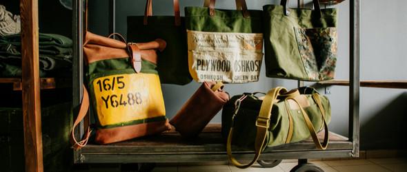 战争时期的五金和降落伞+皮革=Kruk Garage