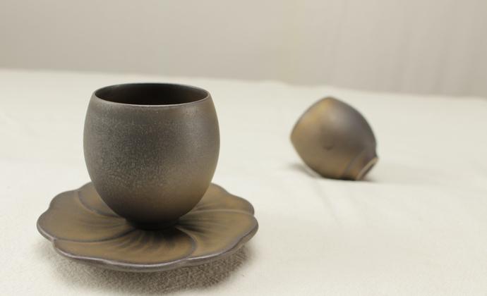 纯手工复古仿古茶具日式禪風茶道細陶茶壶 功夫茶具-鸡蛋杯(单茶杯)