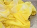 姜黄染色diy教程 - 扎染出明亮橙黄色桌布