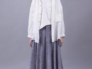 白色纯亚麻休闲衬衫
