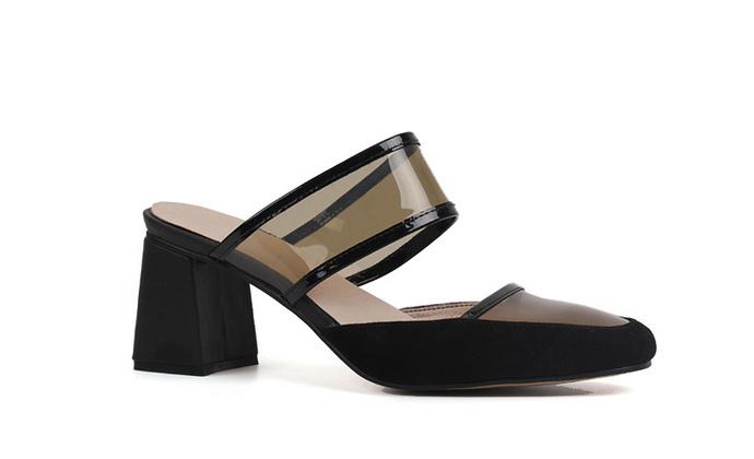 透明高跟鞋女夏韩版罗马真皮高跟凉鞋2017新款女舒适粗跟女鞋