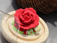 粘土仿真永生花礼盒透明玻璃罩生日情人母亲节礼物花包邮颜色可定
