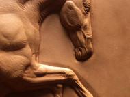 原创皮雕皮塑作品——几何形体的马