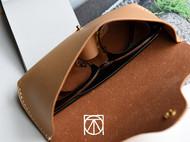不凡手作 手工皮具意大利原色植鞣革眼镜包 眼镜盒 头层牛皮