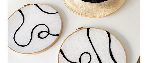 极简主义的黑白刺绣 | Limone Art