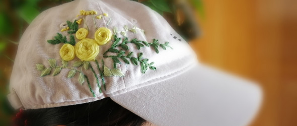 帽子上玩刺绣,也是很有意思的。
