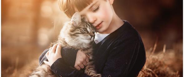 与动物在一起的孩童,只有美好和纯真 |Andrea Martin