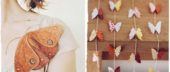 组图:有关于蝴蝶的美丽的手工艺品