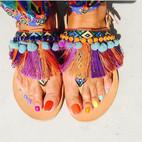希腊手工波西米亚凉鞋