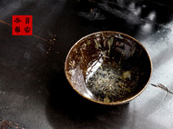 传统龙窑柴烧全手工粗陶抹茶碗
