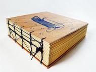手工欧式复古线装本 胶合板牛皮纸超厚本子