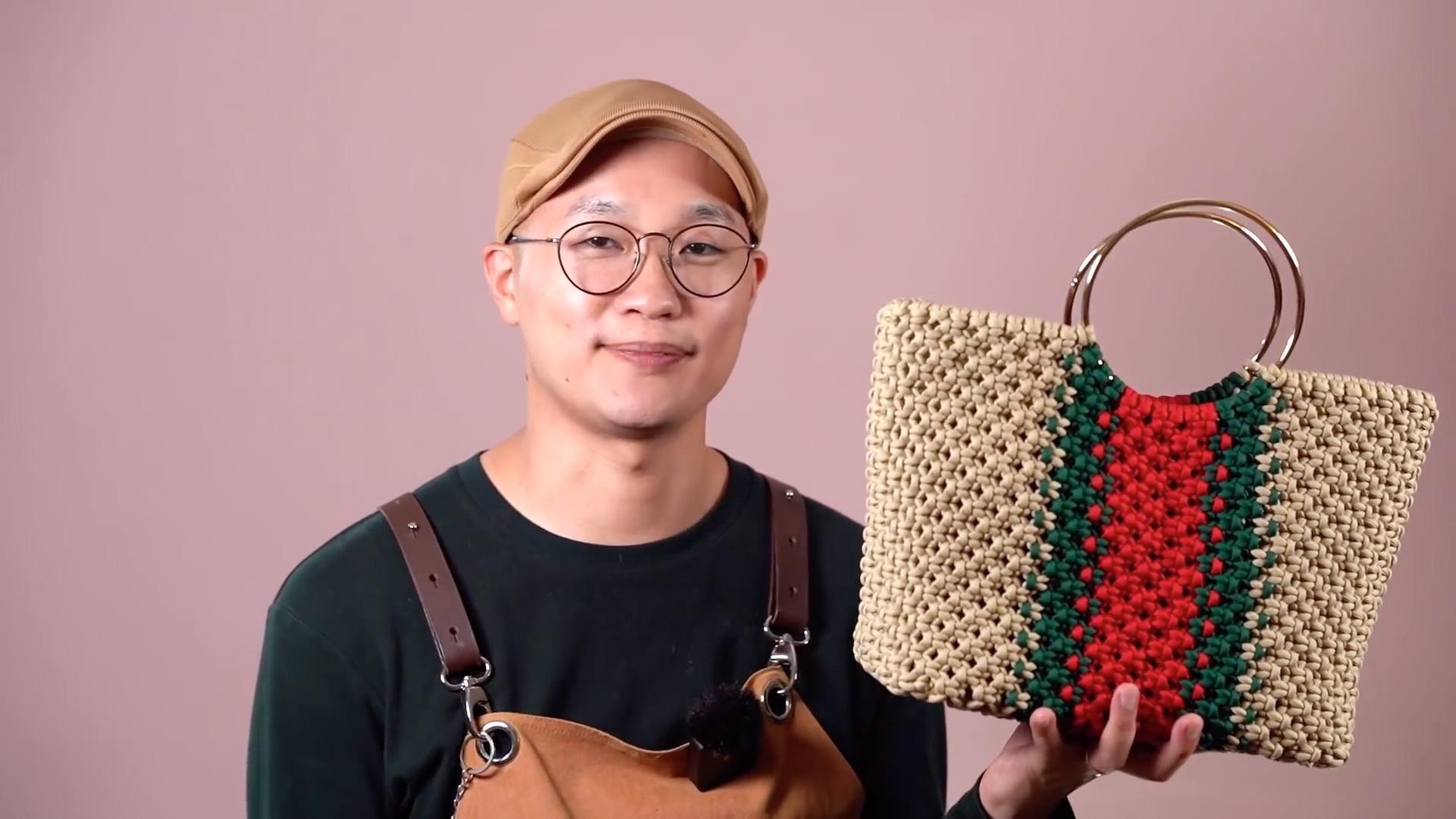 DIY手工编织挽手编织包(DIY Macrame Bag)