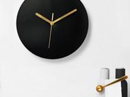 【为勿设计室】原创手作真皮挂钟 现代简约客厅家用创意