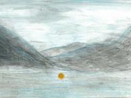 手绘——盛夏山海天