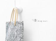 斑马纹印花帆布手工托特包