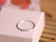 99纯银简约戒指闺蜜情侣尾戒指环