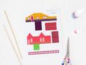 免费纸艺模型下载:迷你树屋模板(剪纸/折纸)