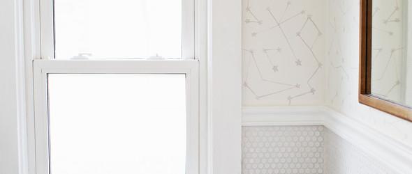 简单的手绘+印章,让卫生间墙面变成银河!