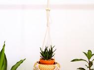 编织垫花盆悬挂吊篮