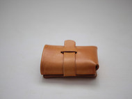 f2studio 真皮 牛皮 纯手工植鞣革钱包 卡包 创意钱夹(棕色)