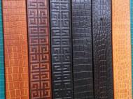 意大利进口植鞣革压花皮带实心纯铜扣