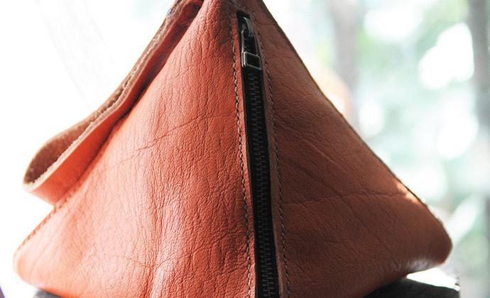 一边宅复古个性随身包真皮手工包粽子包包