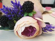 森系山茶花薰衣草黑莓紫色系发卡鸭嘴夹发饰