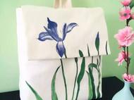 原创手绘包帆布双肩背包中国风文艺布包学生书包休闲包新款马兰花