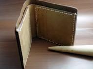 反毛植鞣革6卡位短款钱包