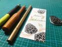 橡皮章的节日卡片DIY