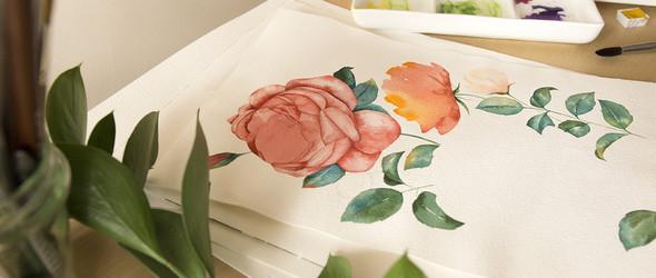植物艺术家/水彩画家Chuykova Olga的水彩画和水彩手绘过程欣赏