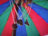 银拓丨独立原创手工银饰 99纯银徽章吊坠