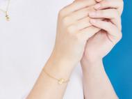 CAMBAS刊芭思 银镶晶钻宇航员手链女925纯银情侣手饰小众设计简约