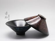 天然大漆 斗笠杯 茶道茶具传统器皿与传统工艺的结合和与创新