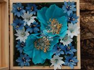 高原花卉纸艺花盒